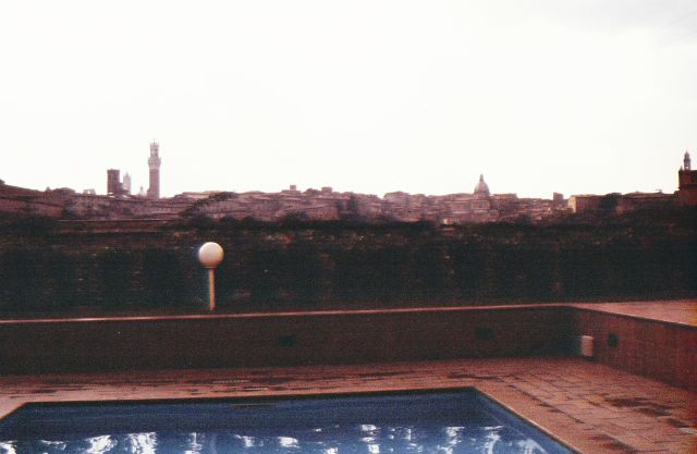 View of Siena from the Pool