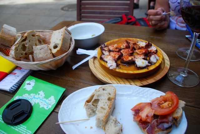 Jamon con Tomate and Pulpo