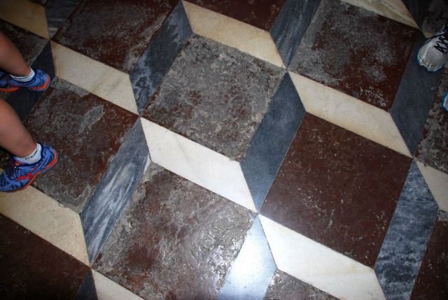 Tiled Floor in Cathedral with 3D Effect