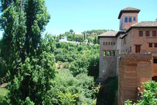Looking towards the Generalife Section