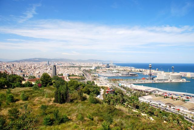 Barcelona Harbor from Castel Montjuic