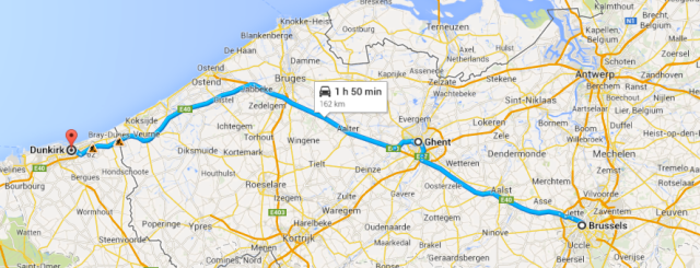 Brussels to Dunkirk