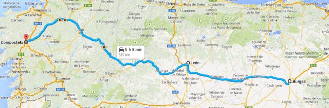 Burgos to Santiago