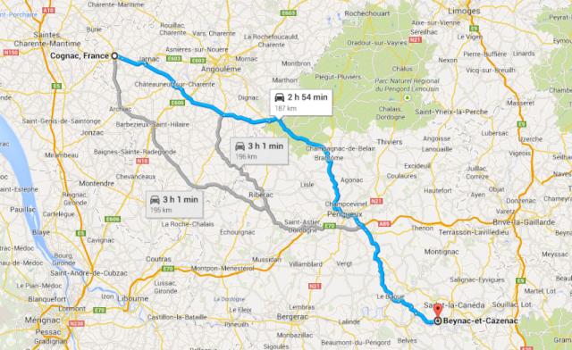 Cognac to Beynac