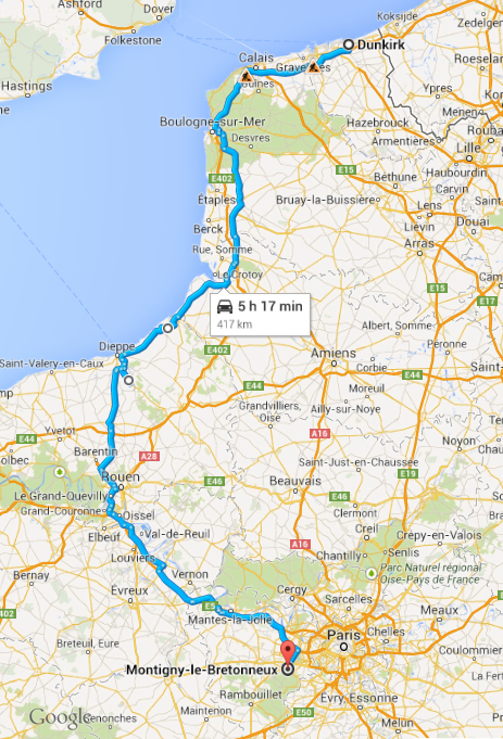Dunkirk to Montigny