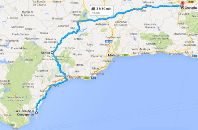 Gibraltar to Granada