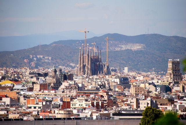 Sagrada from Montjuic