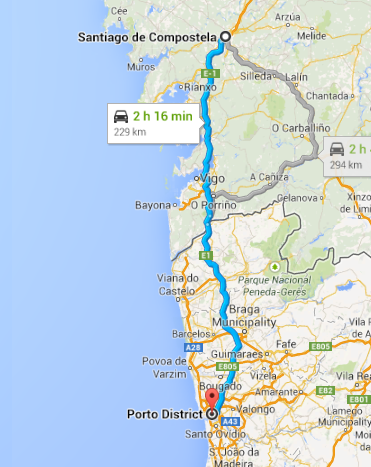Santiago to Porto