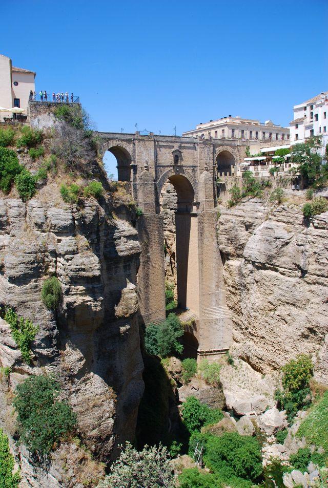 The New Bridge from Jardines de Cuenca Park