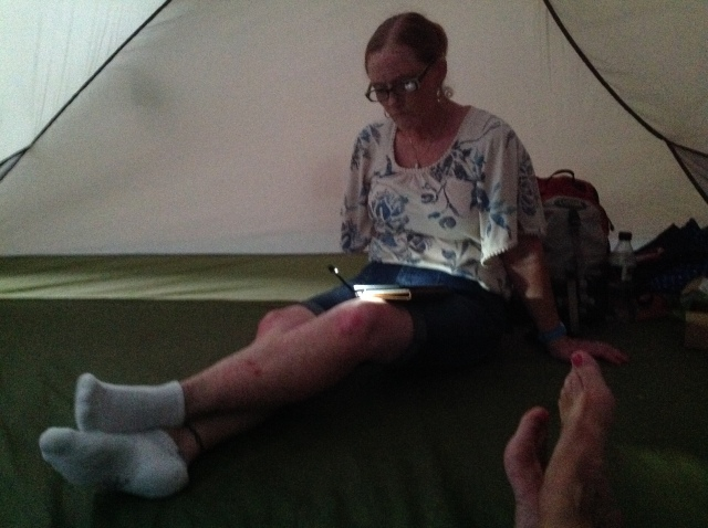 Bev in the Tent