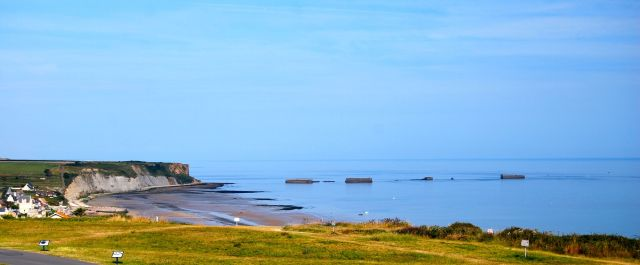 Cliffs and Floating Docks at Arromanches