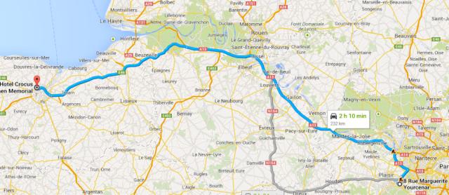 Montigny to Caen