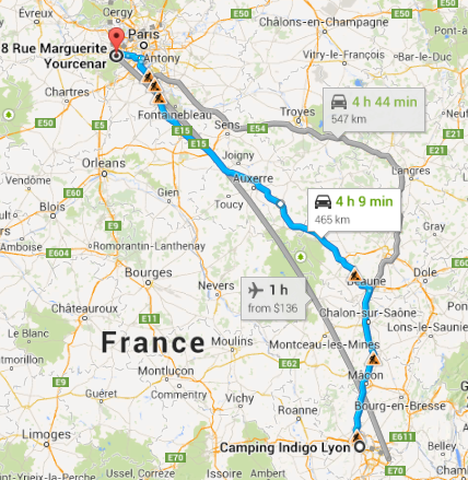 Lyon to Montigny