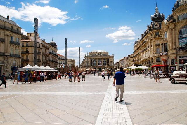 Place Comedie and the Opera House
