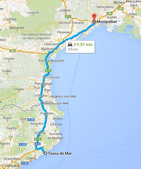 Tossa de Mar to Montpellier