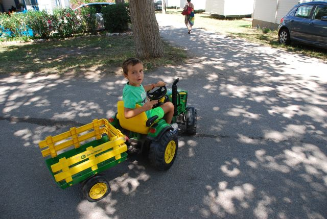 Tractor Boy at Camp