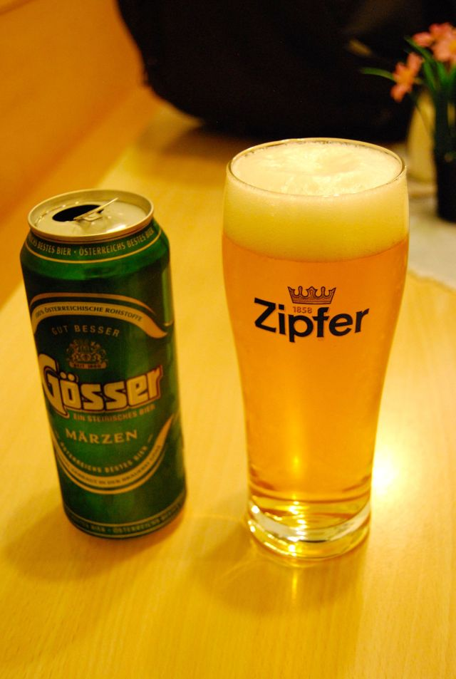 Beer at the Hofburg Stuberl