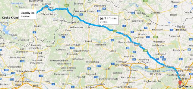 Cesky Krumlov to Vienna