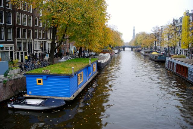 Houseboat with Lawn