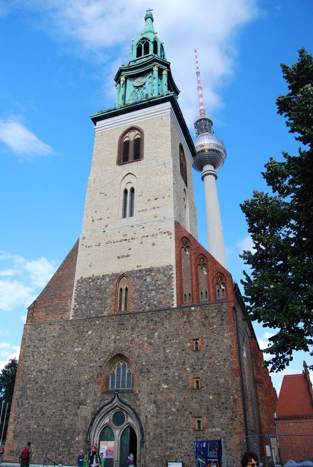 Marien Church and TV Tower