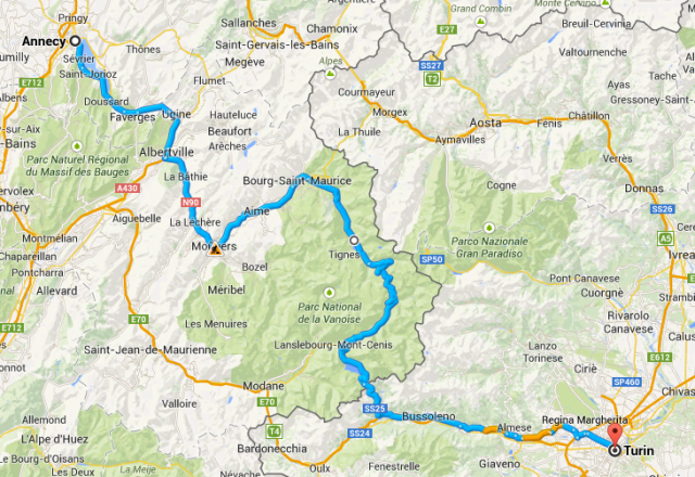 Annecy to Turin