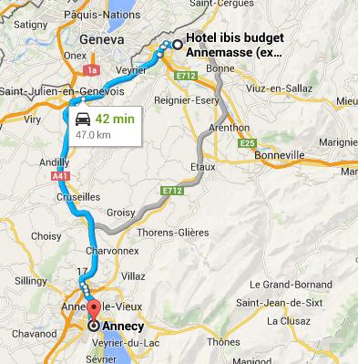 Annemasse to Annecy