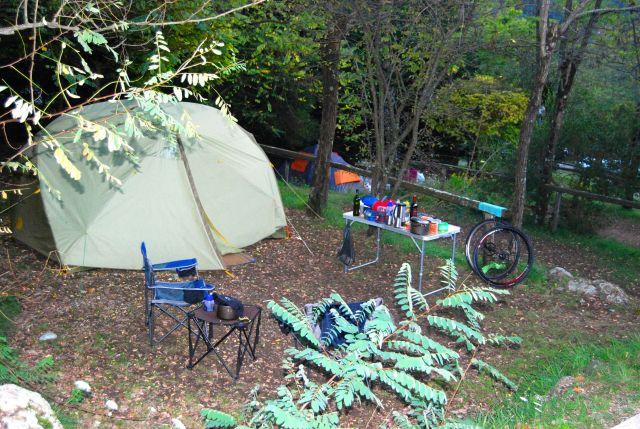 Campsite at La Sfinge in Cinque Terre