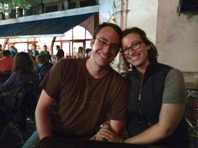 Jessica and Kris at Hofbrauhaus