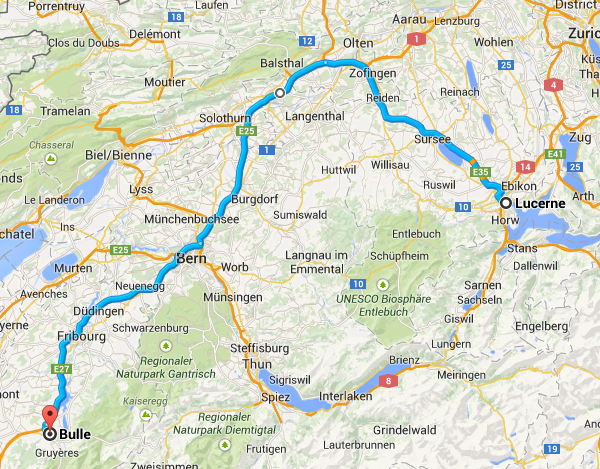 Lucerne to Bulle
