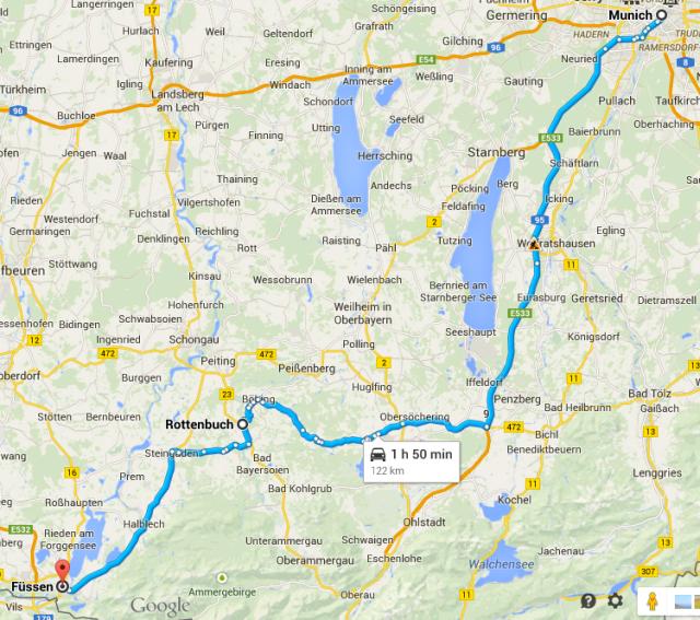 Munich to Fussen