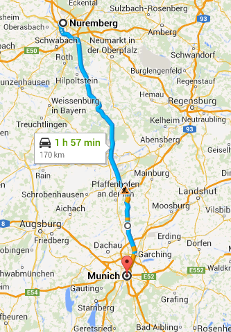 Nuremberg to Munich