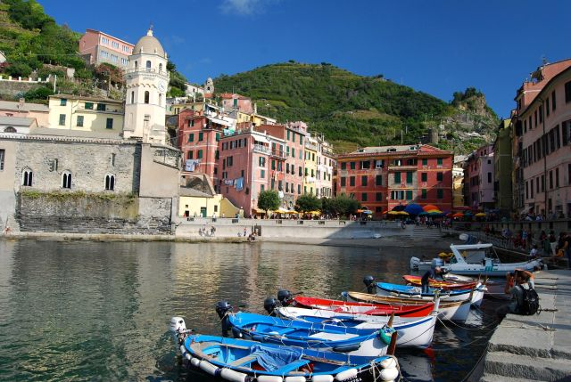 Vernazza Boats and Harbor