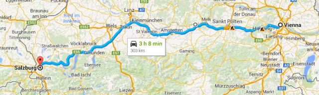 Vienna to Salzburg