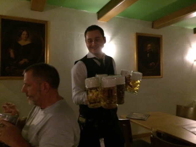 Our Hardworking Waiter at Augustiner