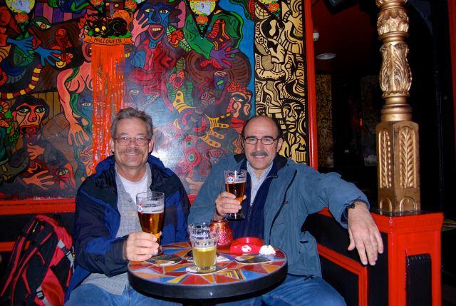 Francois and I at the Who's Bar, Paris 2007