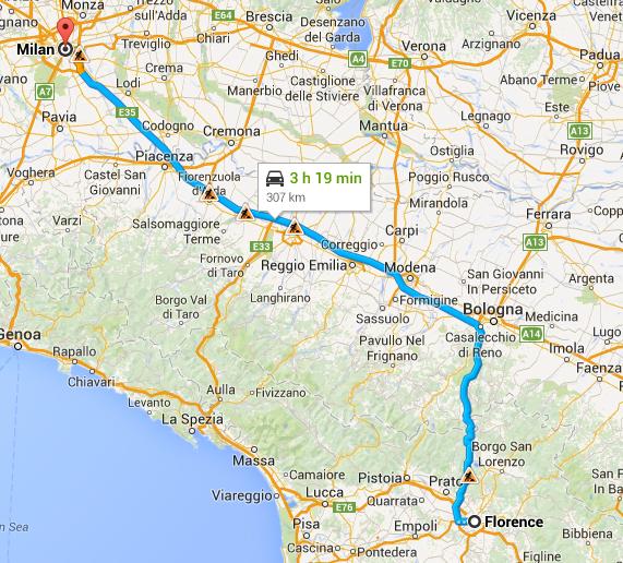 Florence to Milan