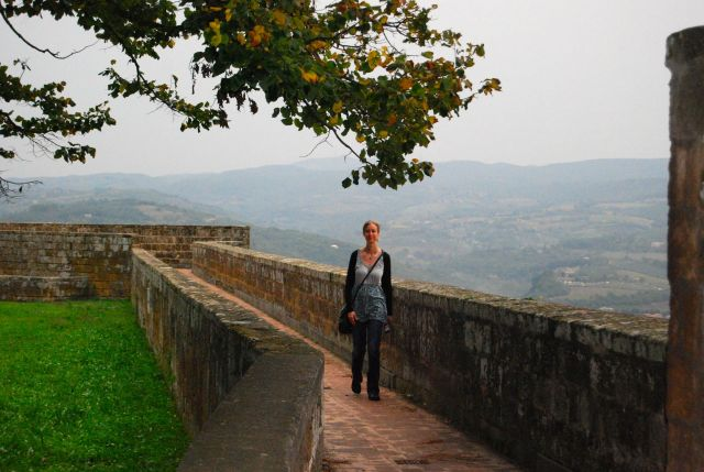 Lyndsay in Orvieto