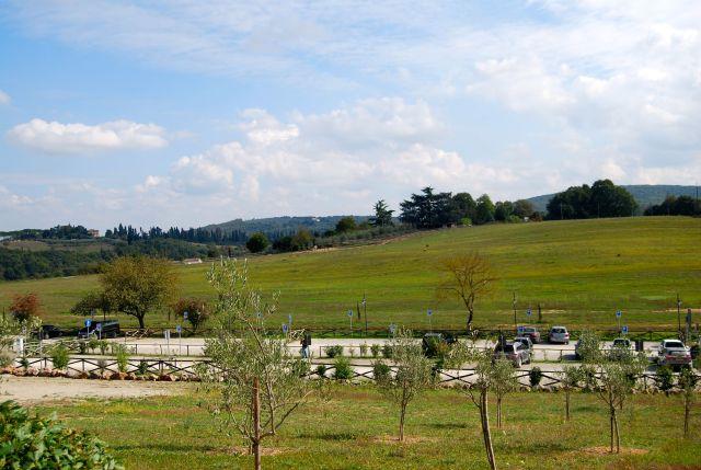 Parking Lot at Monteriggioni
