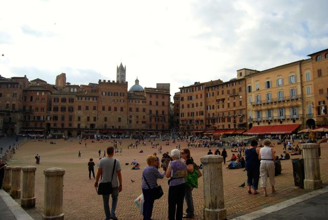 Piazza del Campo with Duomo in Background