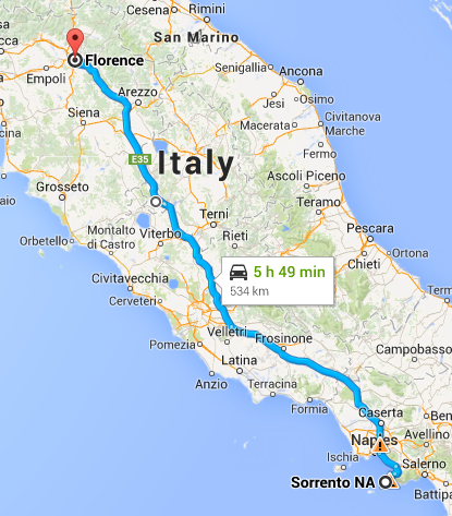 Sorrento to Florence