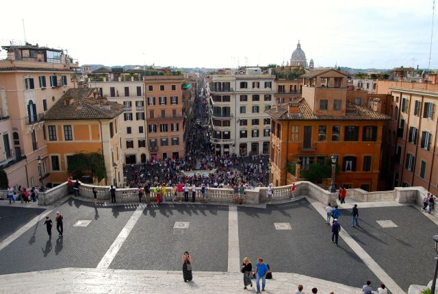 View from Atop the Spanish Steps