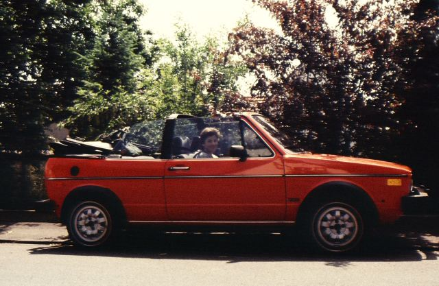 Our 1984 VW Rabbit parked in Germany