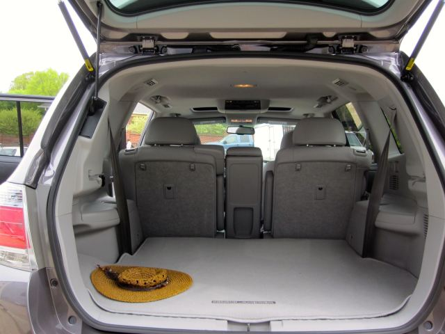 Highlander's Cargo Area Behind the Rear Passenger Seats