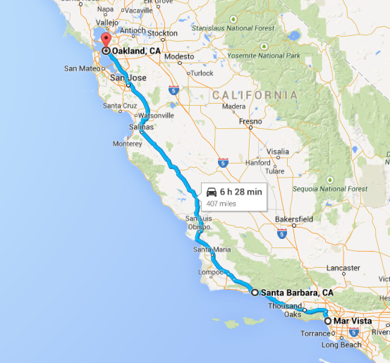 Mar Vista to Oakland