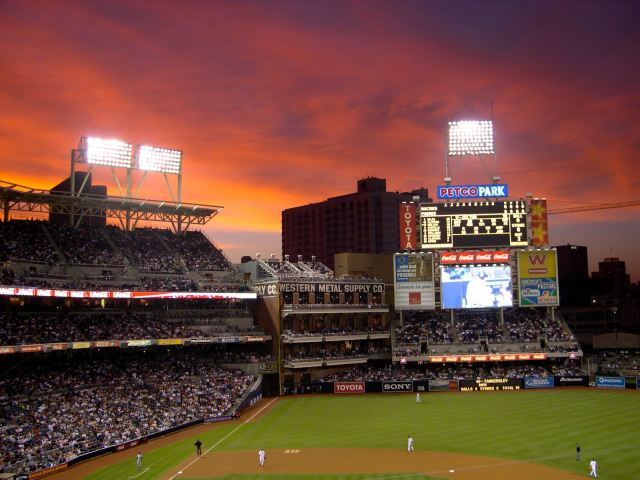 A Game at Petco, August 2004