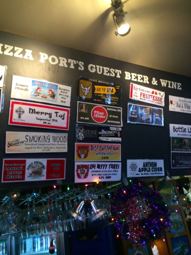 Beer Offerings at Pizza Port, Including the Pliny