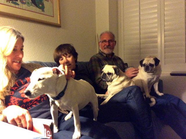 Joanna, Jan, Evan and Three Little Dogs