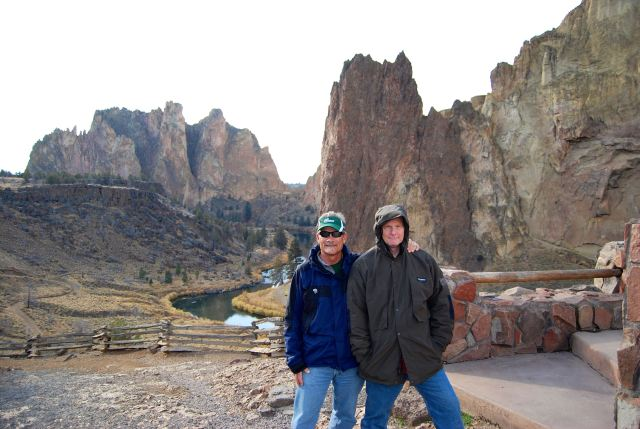 Chuck and I at Smith Rock State Park in 2012