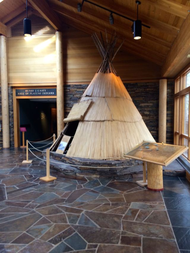 Teepee outside the Native American's Exhibit