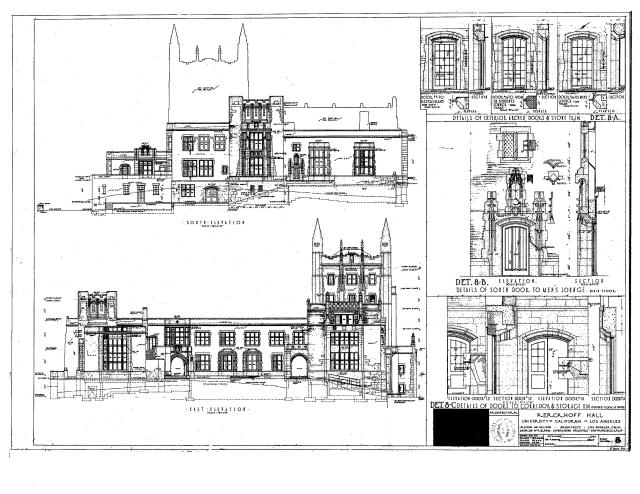 Kerckhoff Hall Blueprints